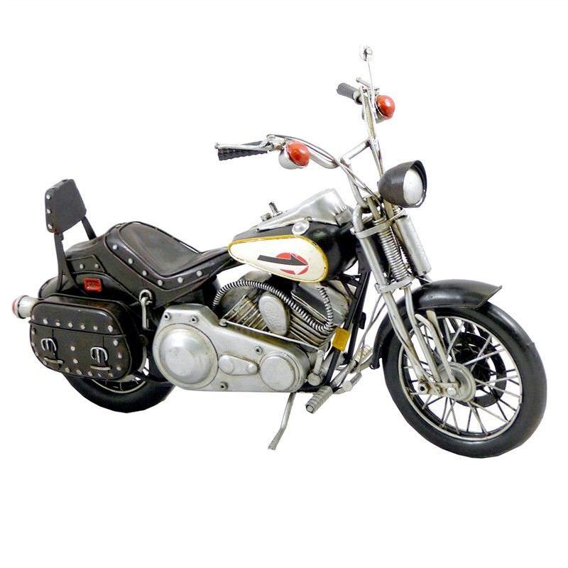 Boutica Handmade Tin Motorcycle Model - 1922 Black FXSTS Harley Davidson