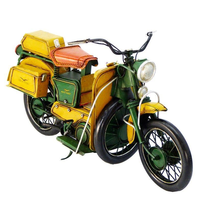 Boutica Handmade Tin Motorcycle Model - 1950 Moto Guzzi Galletto