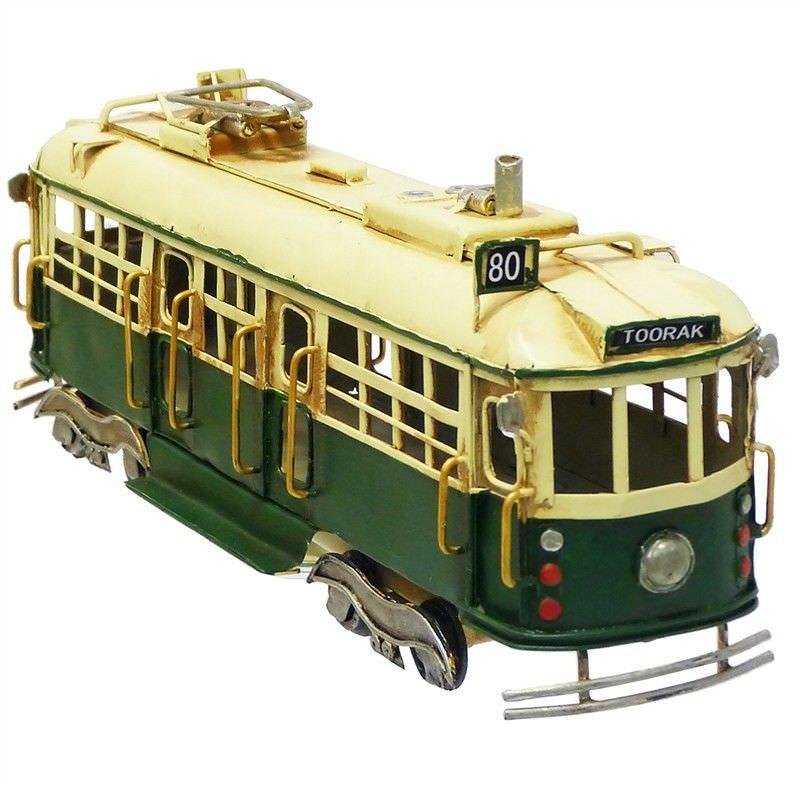 Boutica Handmade Tin Toorak W Class Tram Model