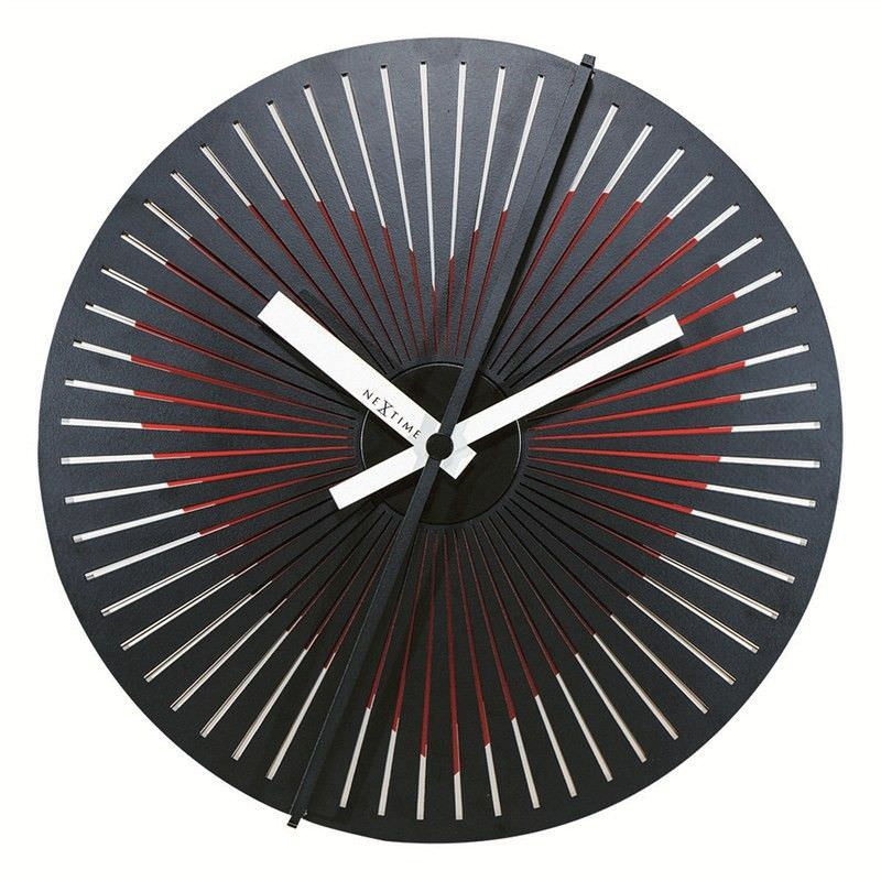 NeXtime Motion Heart Metal Round Wall Clock
