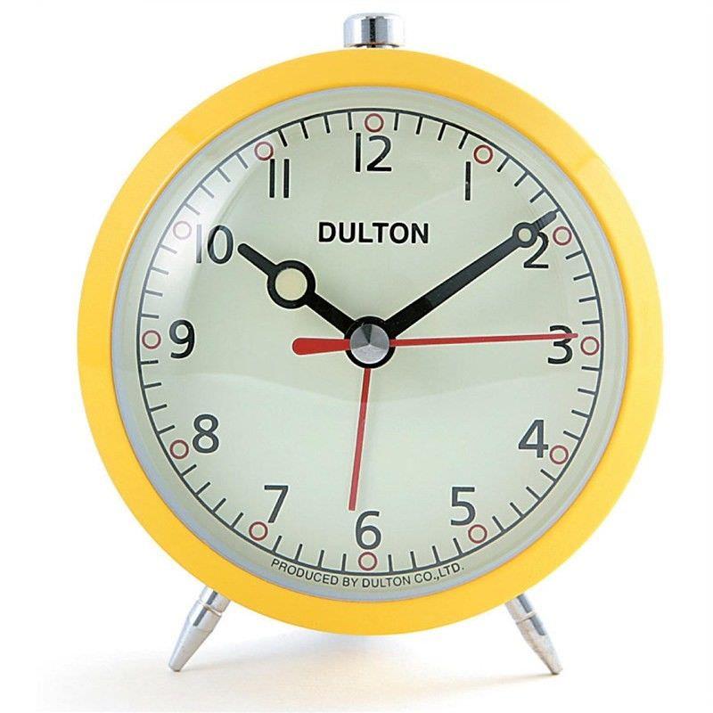 Dulton Metal Quartz Alarm Clock - Yellow