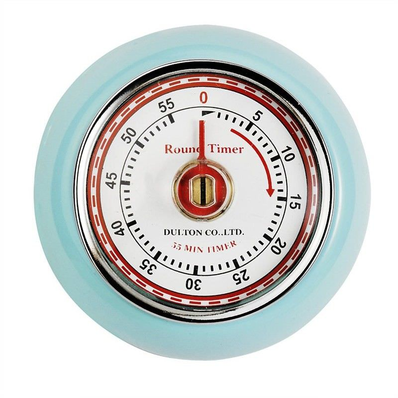 Dulton Round Magnet Kitchen Timer - Pale Blue