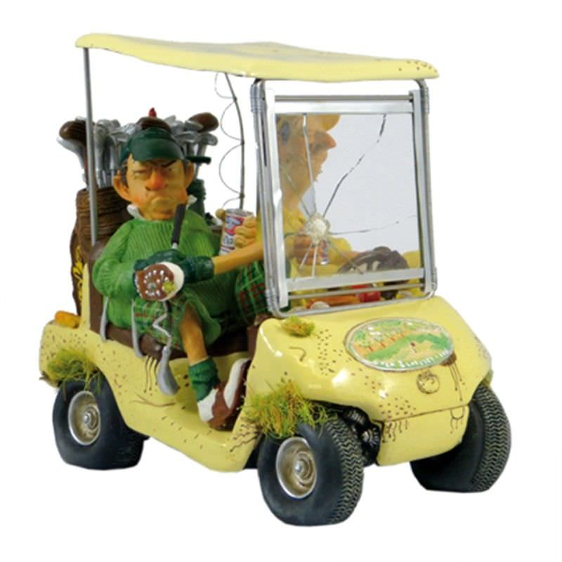 Guillermo Forchino Comic Art Figurine - The Cream Next Hole Golf Cart Large