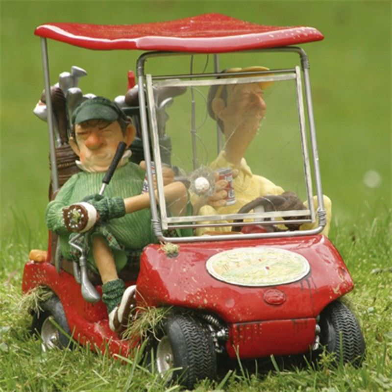 Guillermo Forchino Comic Art Figurine - The Red Next Hole Golf Cart Large