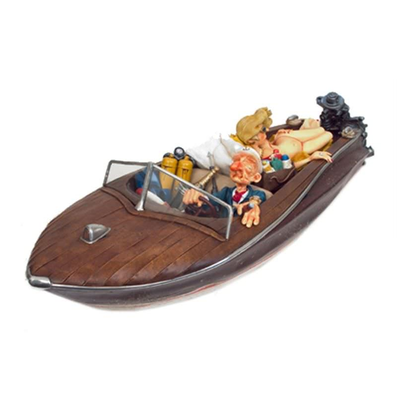 Guillermo Forchino Comic Art Figurine - The Playboy Speedboat