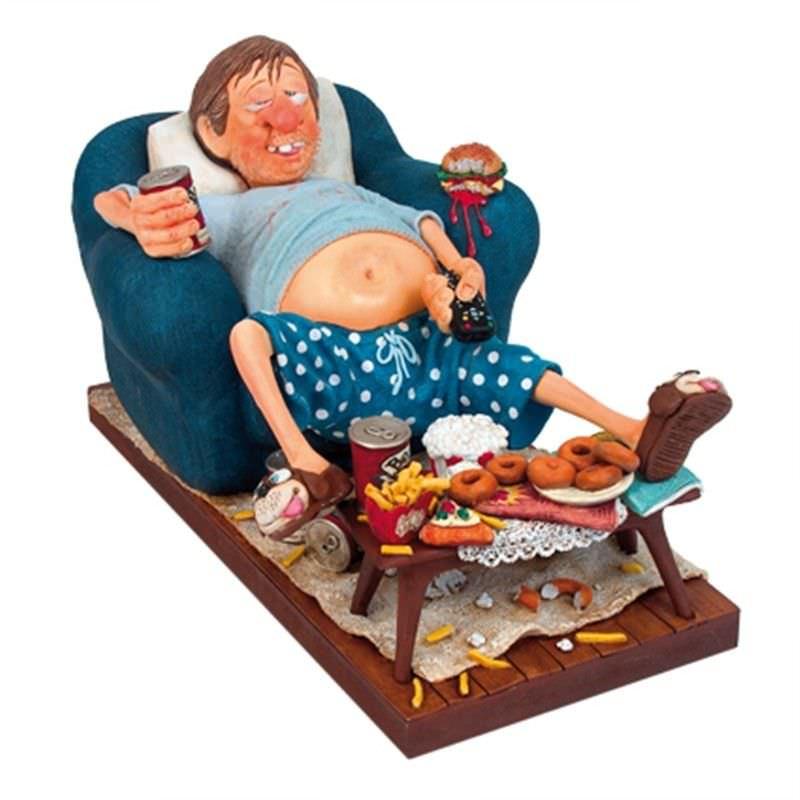 Guillermo Forchino Comic Art Figurine - The Couch Potato