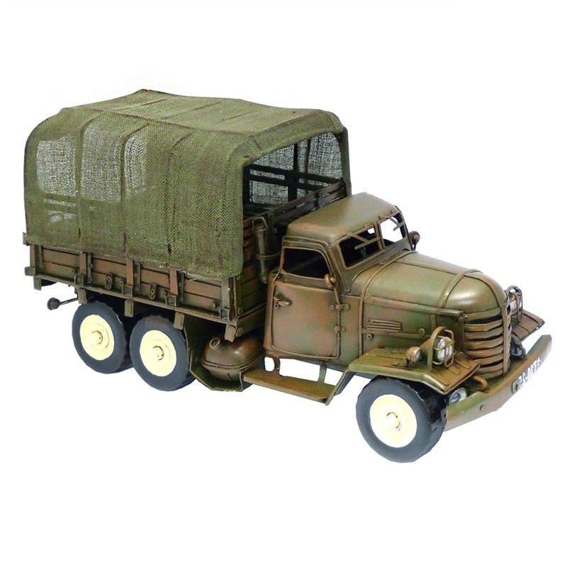 Boutica Handmade Tin Military Vehicle Model - 1940 Transport Truck
