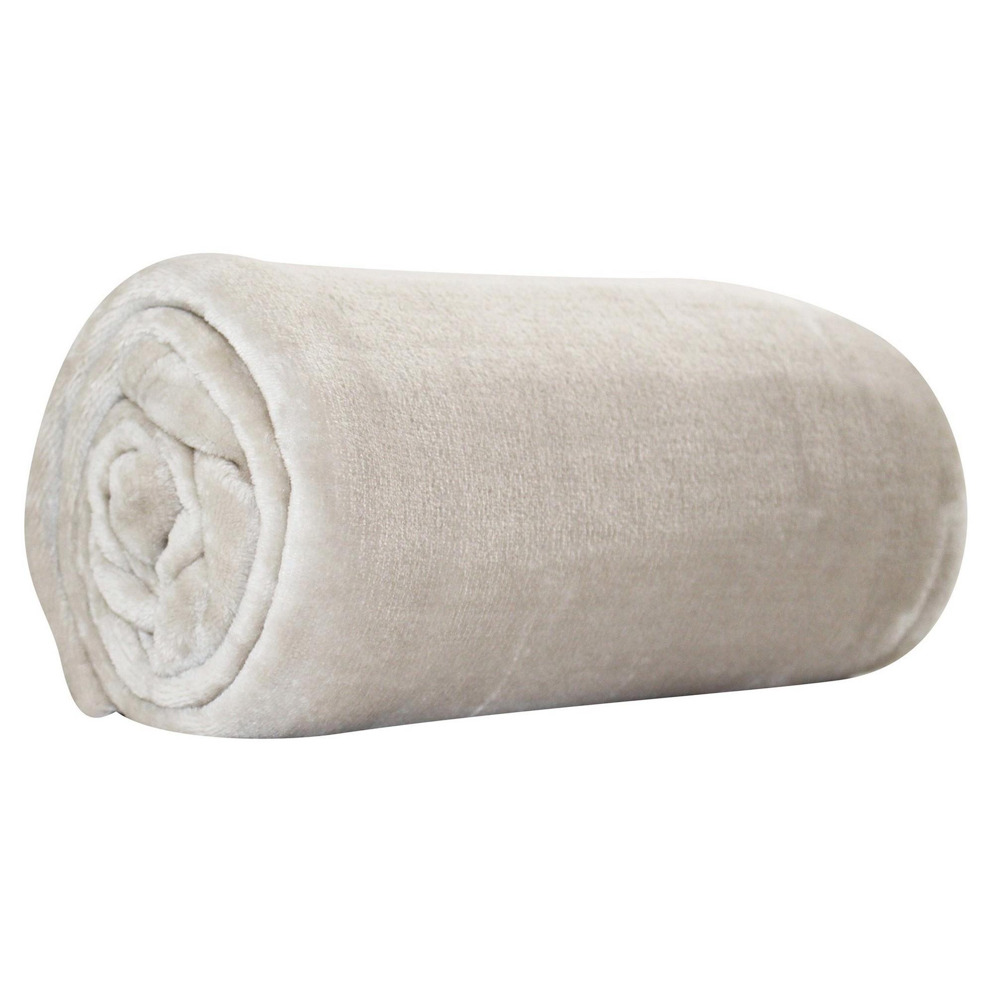 Odyssey Living Super Soft Plush Throw, 127x152cm, Cream