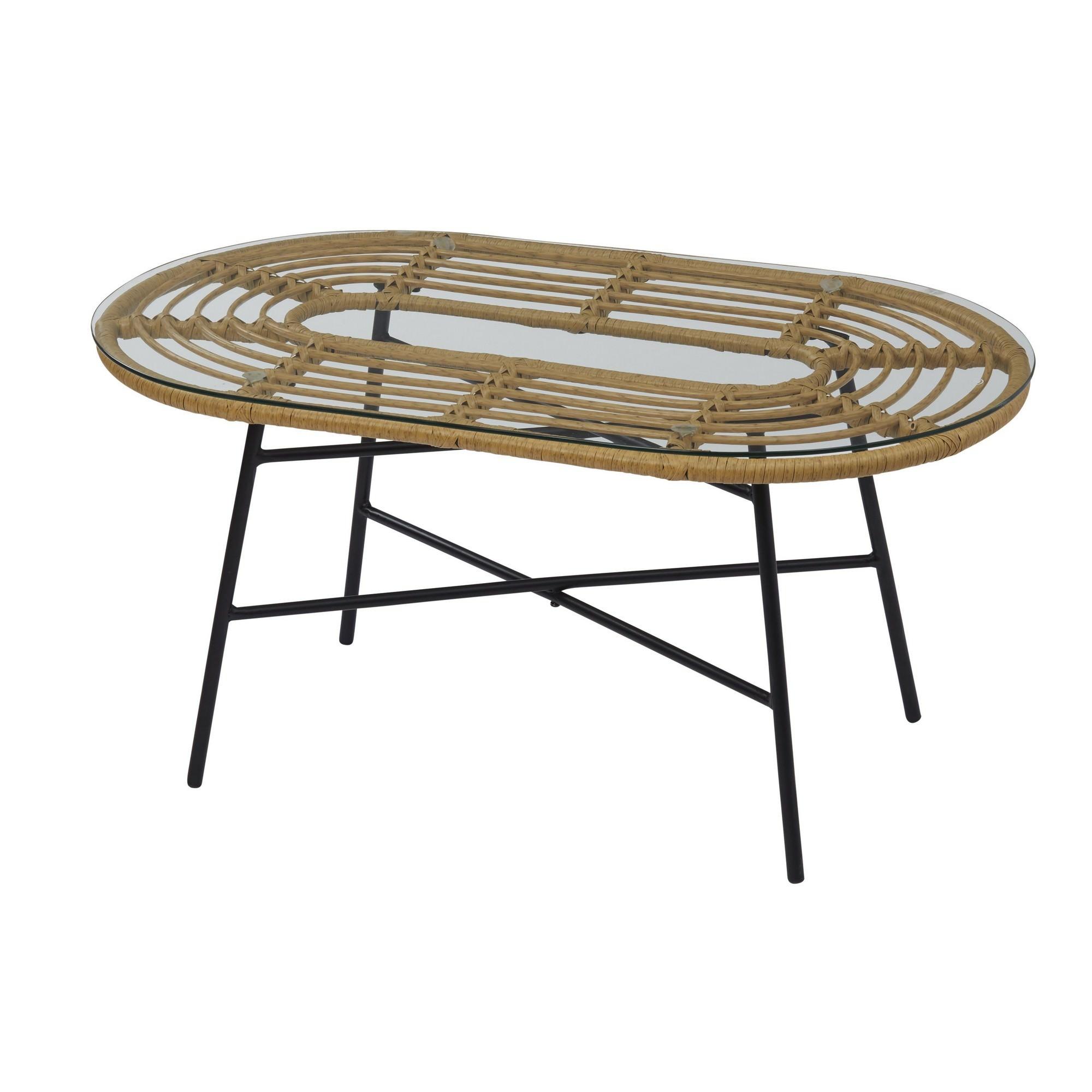 Menton Oval Outdoor Coffee Table, 90cm
