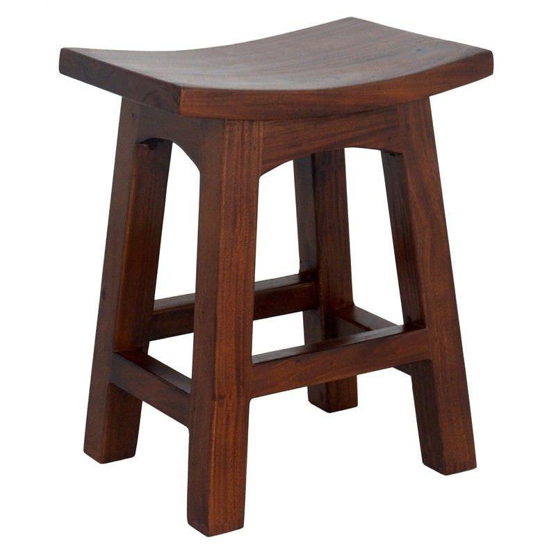 Showa Solid Mahogany Timber Table Stool, Mahogany