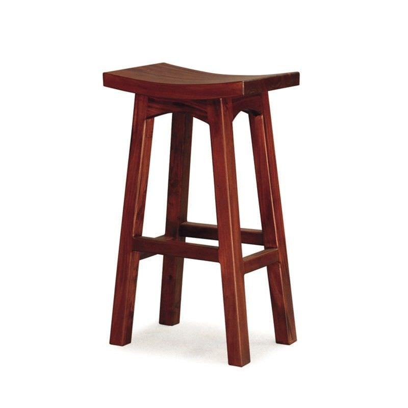 Showa Solid Mahogany Timber Bar Stool, Mahogany