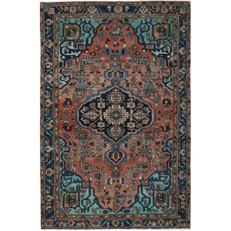 One of A Kind Shola Hand Knotted Wool Persian Rug, 204x131cm