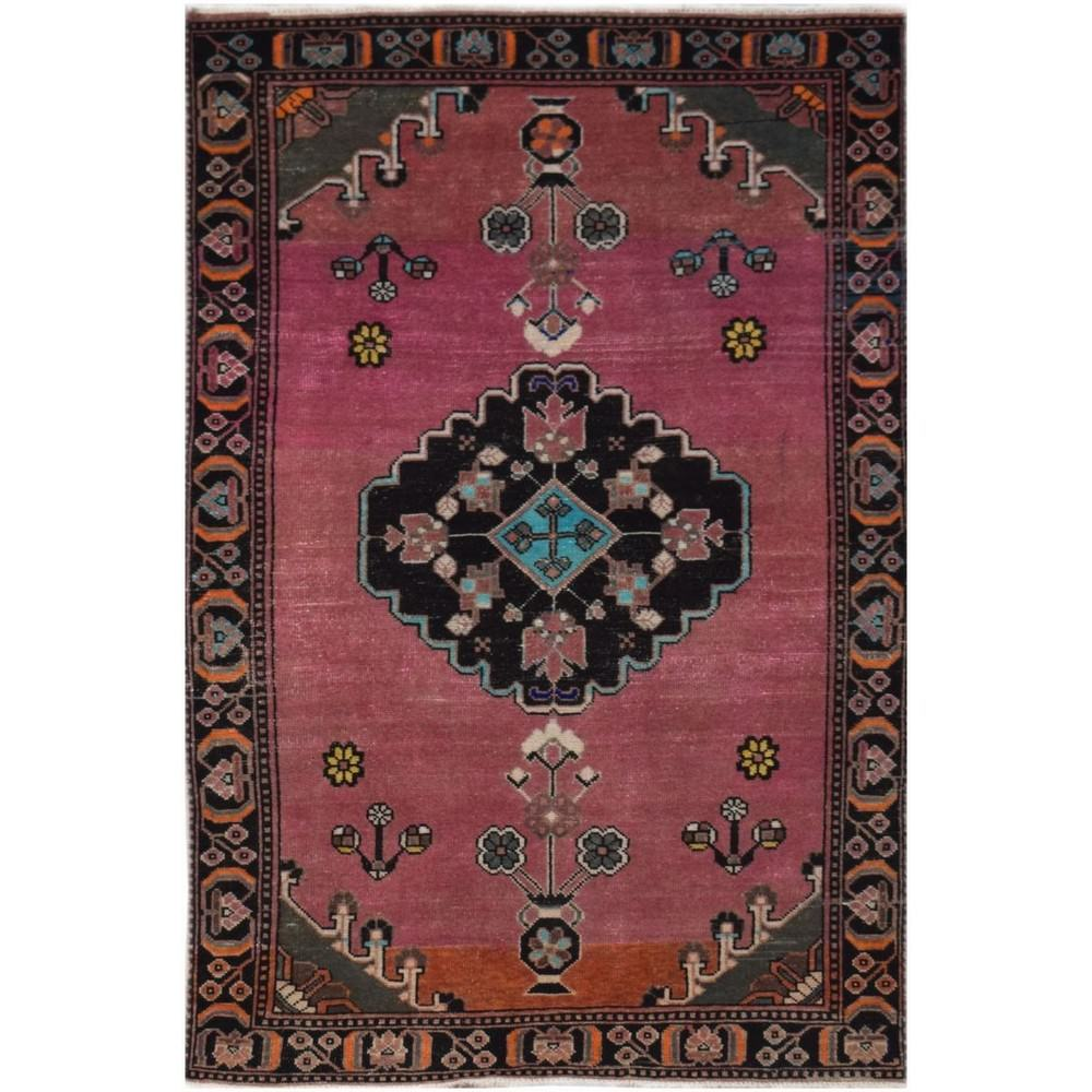One of A Kind Sheikh Hand Knotted Wool Persian Rug, 195x119cm
