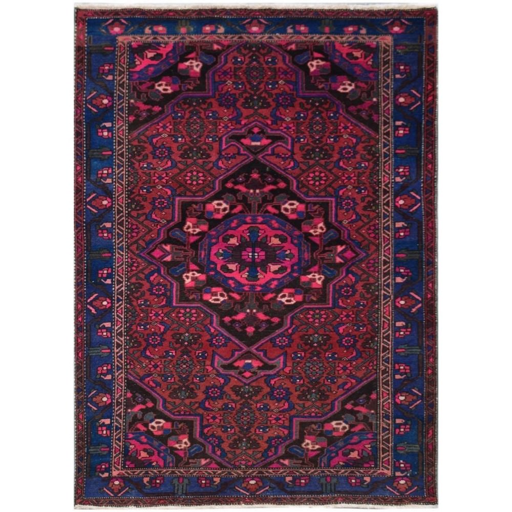 One of A Kind Ahmed Hand Knotted Wool Persian Rug, 211x136cm