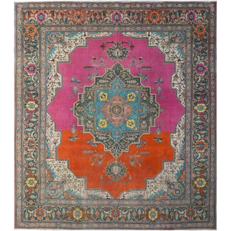 One of A Kind Micah Hand Knotted Wool Persian Rug, 327x295cm