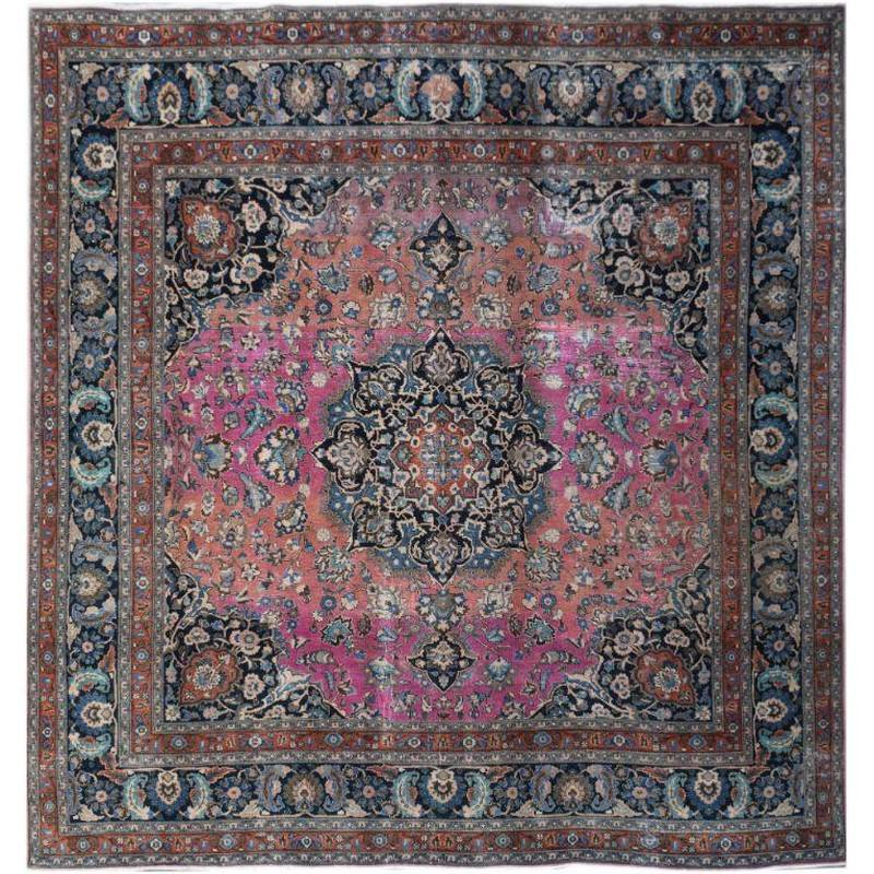 One of A Kind Mari Hand Knotted Wool Persian Rug, 297x292cm