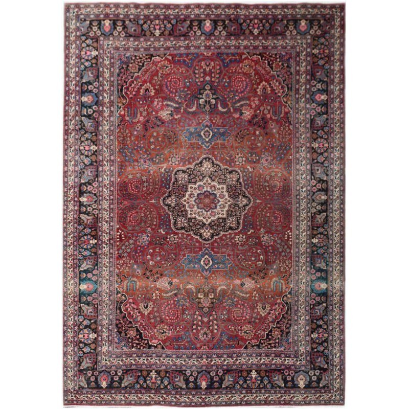 One of A Kind Naeem Hand Knotted Wool Persian Rug, 372x257cm