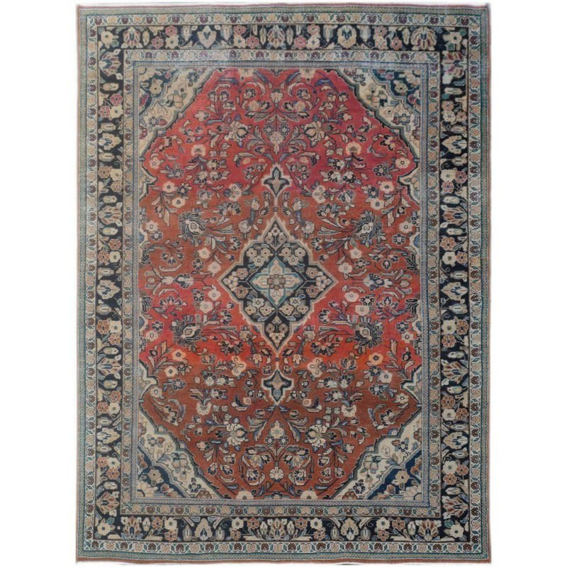 One of A Kind Aled Hand Knotted Wool Persian Rug, 307x210cm