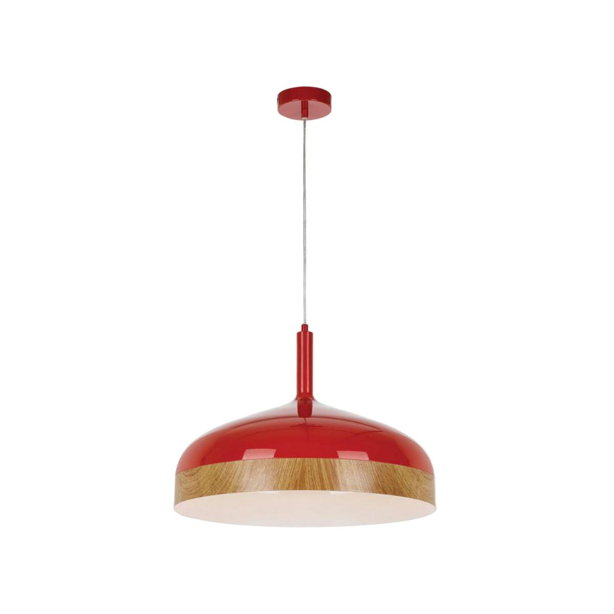 Bresno Metal Pendant Light, Large, Red