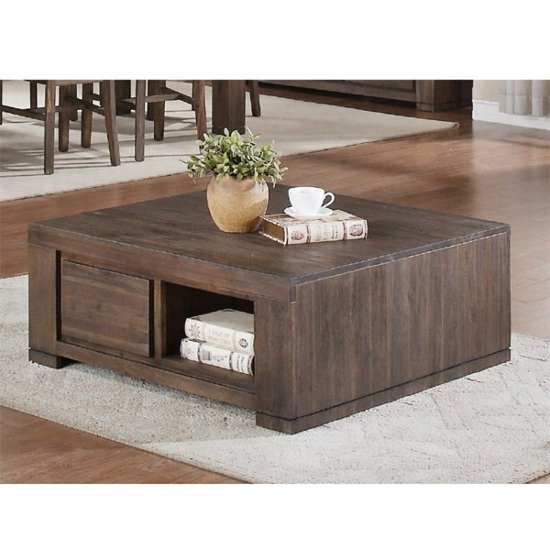 Bristol Rectangular Coffee Table in Charcoal
