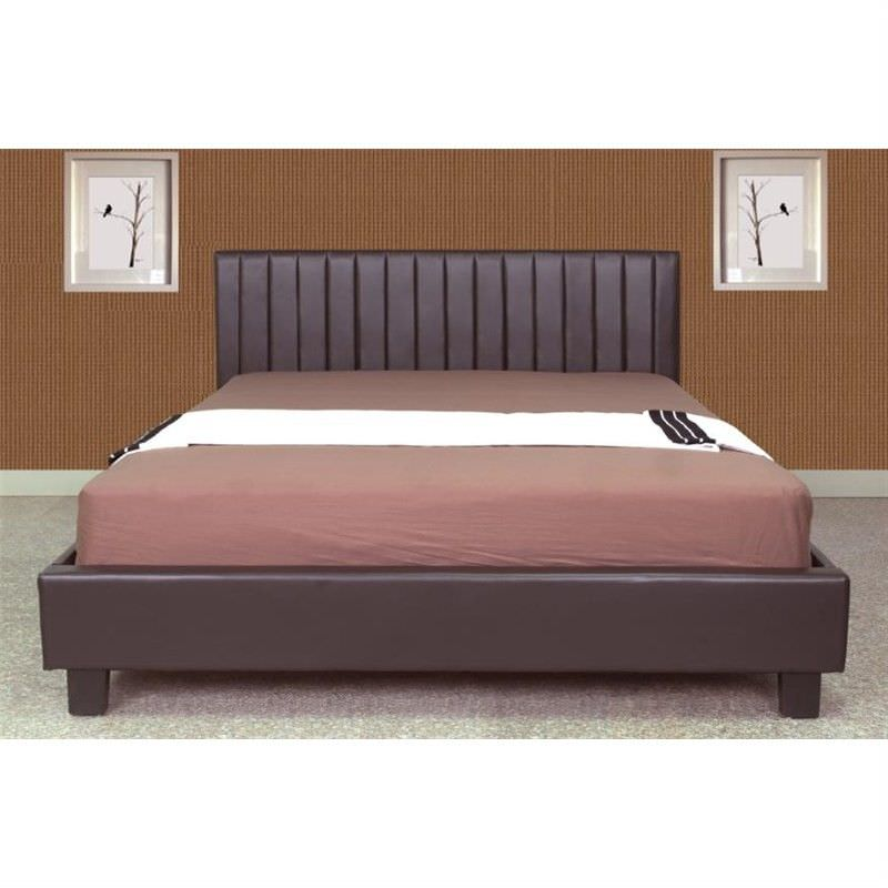Italian Design New Dior Queen Size PU Leather Bed in Brown
