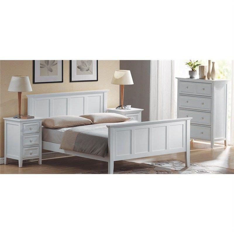 Evoka Single Bed in White