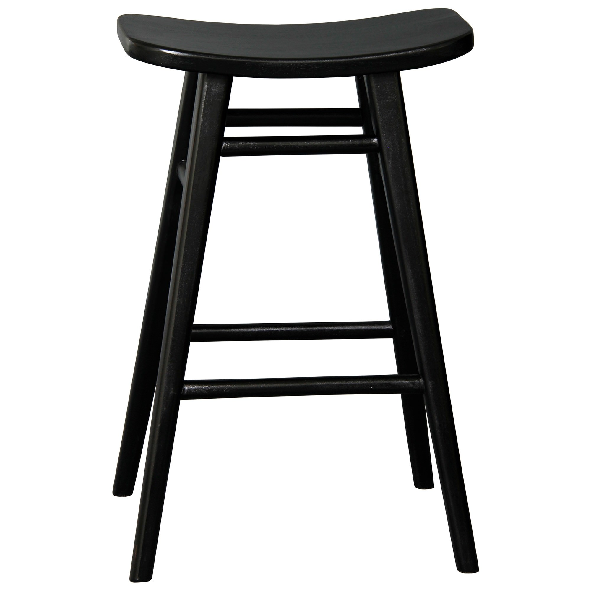 Alta Mahogany Timber Counter Stool, Black