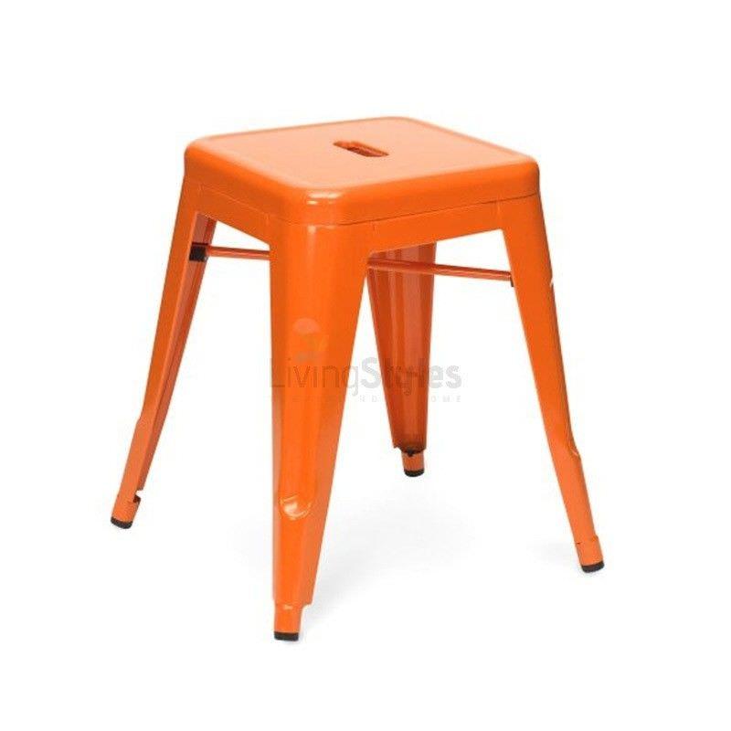 Premium Replica Tolix Table Stool, Orange