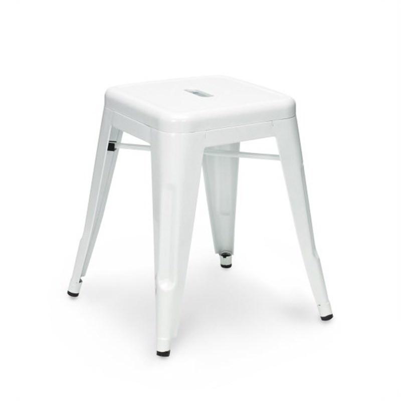 Tolix Bar Stool 45cm - Xavier Pauchard Replica - White