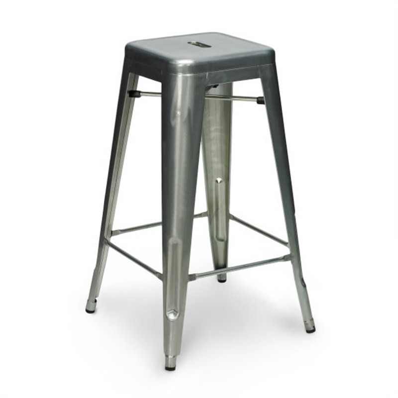 Tolix Bar Stool 65cm - Xavier Pauchard Replica - Galvanized