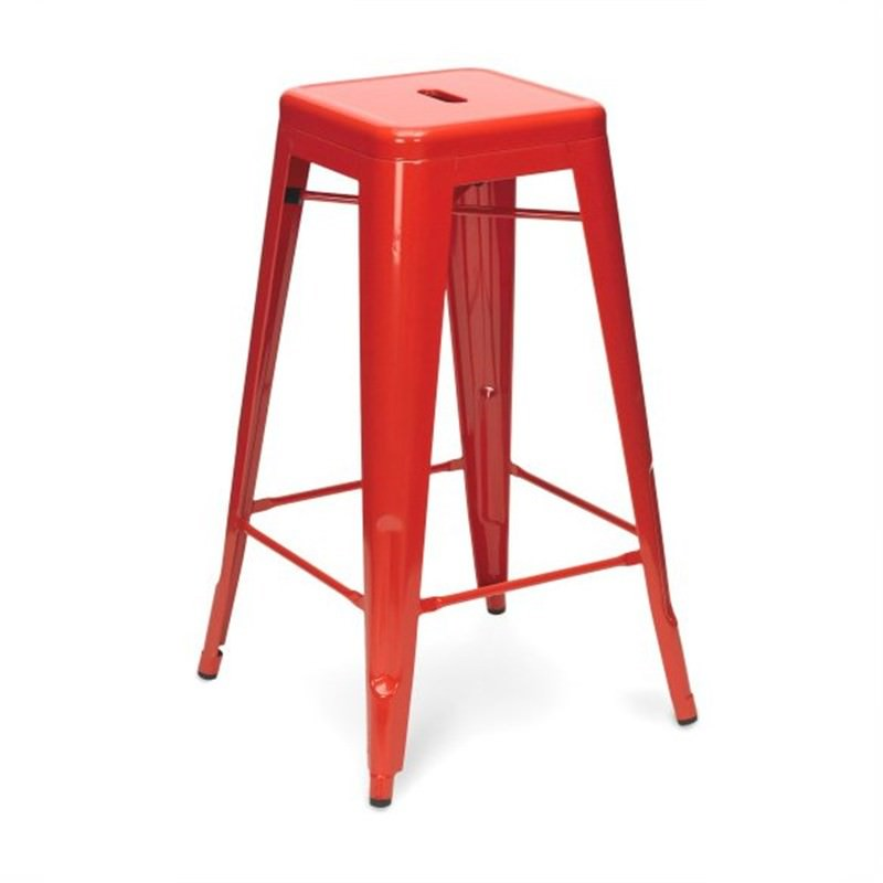 Tolix Bar Stool 65cm - Xavier Pauchard Replica - Red