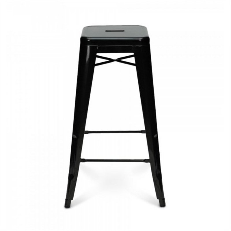 Tolix Bar Stool 75cm - Xavier Pauchard Replica - Black