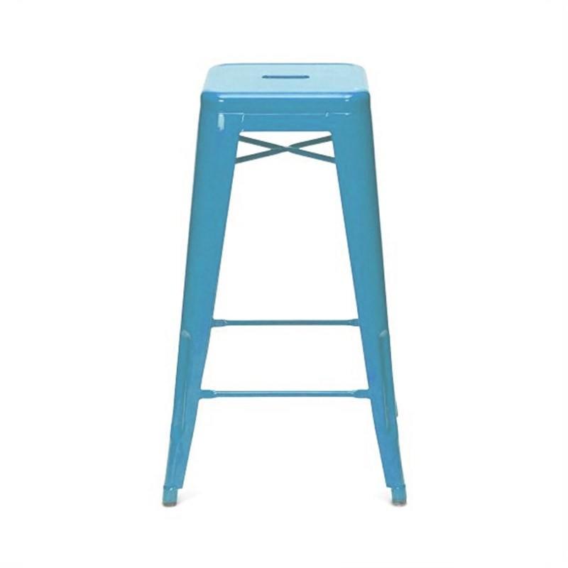 Tolix Bar Stool 75cm - Xavier Pauchard Replica - Blue