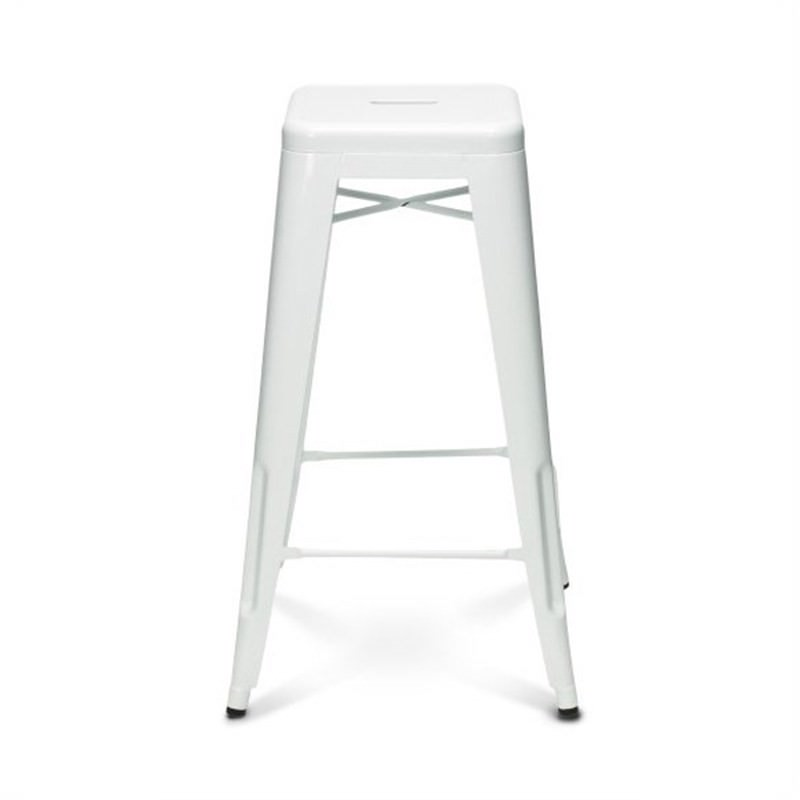 Tolix Bar Stool 75cm - Xavier Pauchard Replica - White
