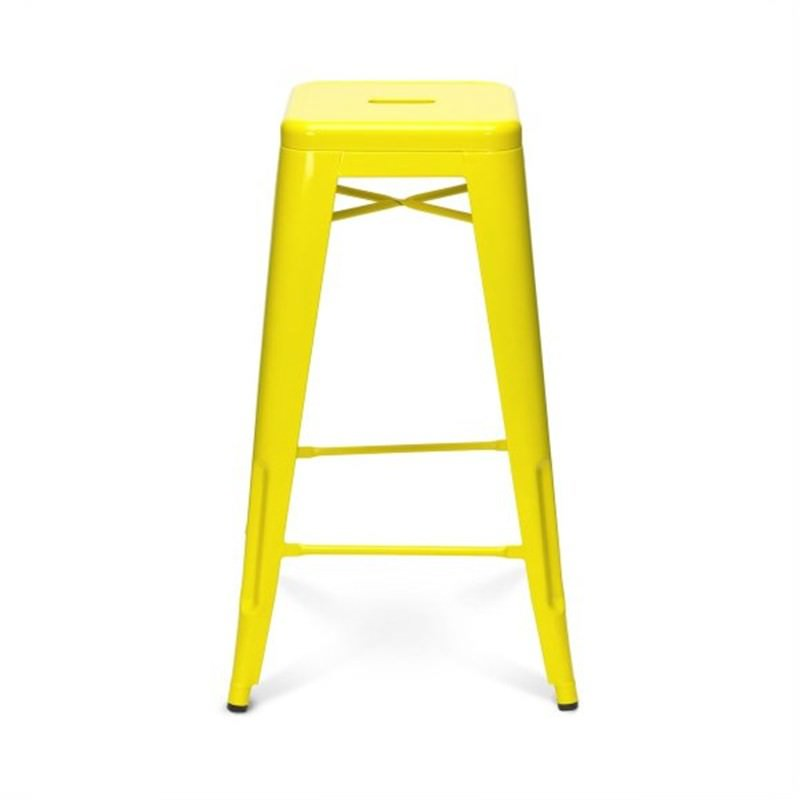 Tolix Bar Stool 75cm - Xavier Pauchard Replica - Yellow