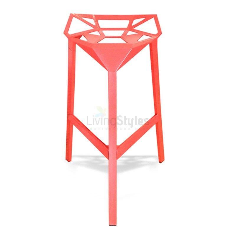 Replica Konstantin Web Bar Stool, Red