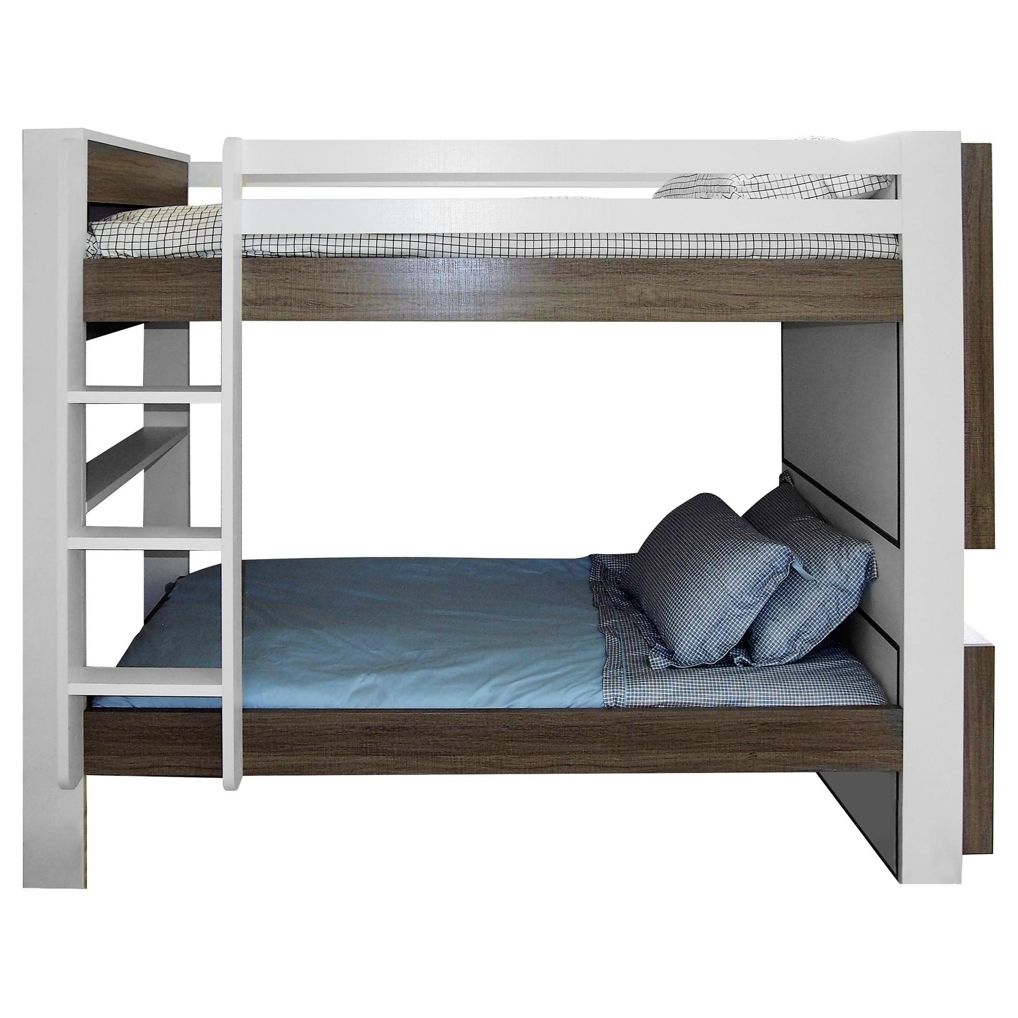 Aero Bunk Bed with Storage Shelf, King Single