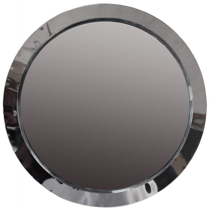 Agnes Stainless Steel 72cm Round Wall Mirror