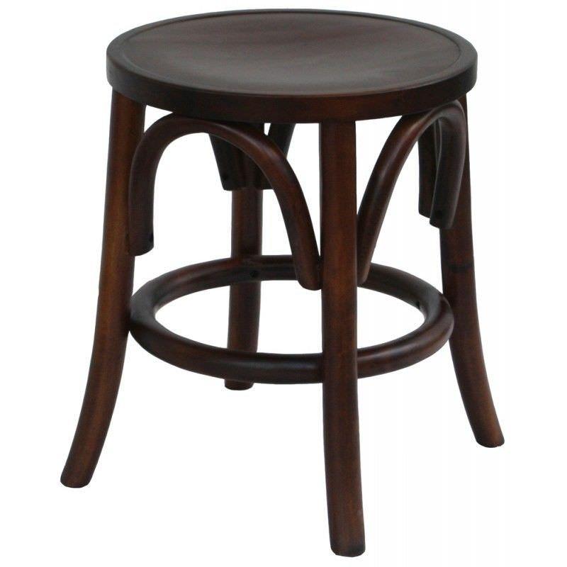 Satordi Bentwood Table Stool, Dark Brown