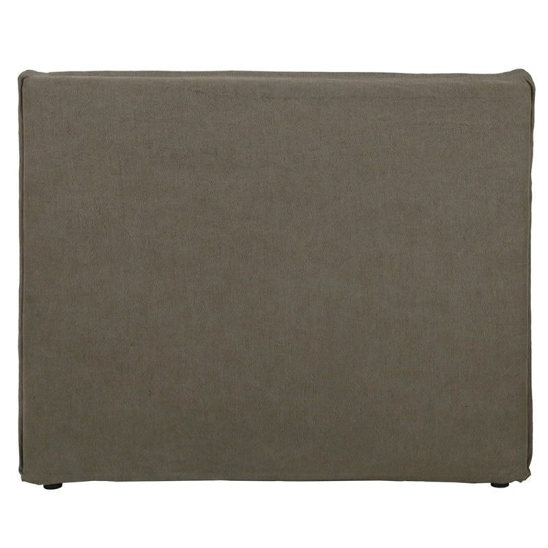 Morgan Jute and Cotton Fabric King Bed Head - Taupe