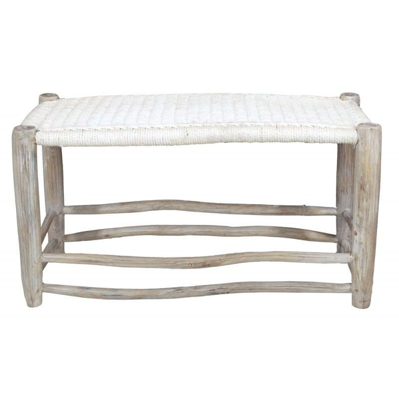 Onni Solid Timber 80cm Peasant Bench With Cotton Seat