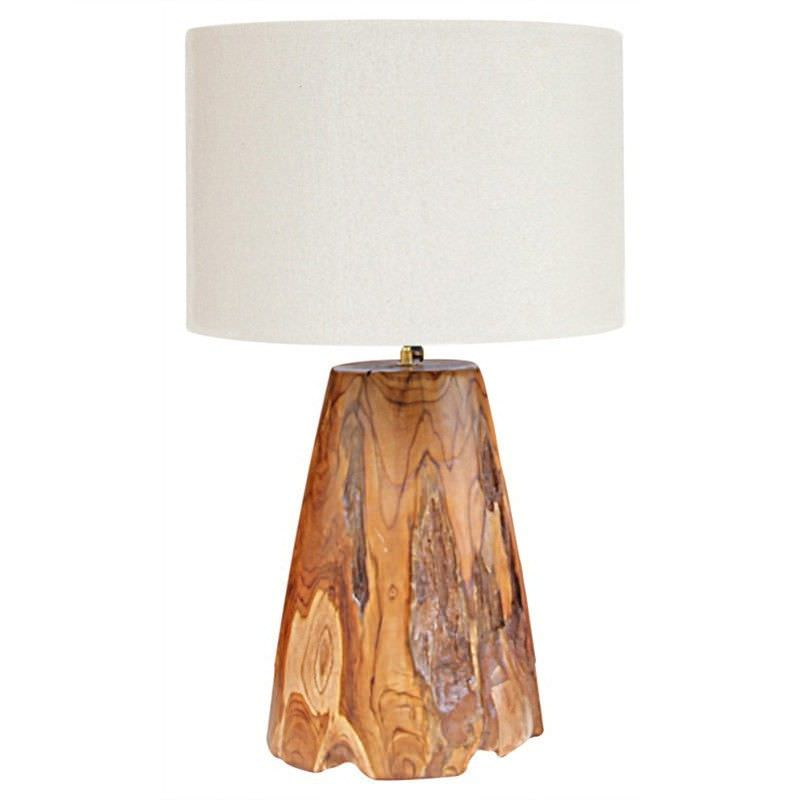 Portland Hand Crafted Timber Base Lamp with Shade