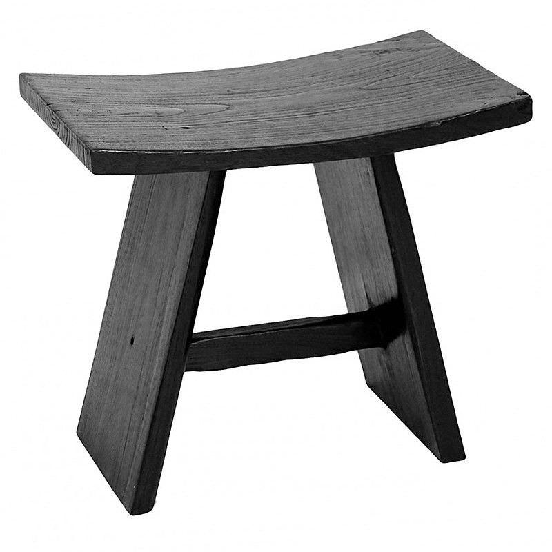 Kasper Solid Hardwood Timber Oriental Stool