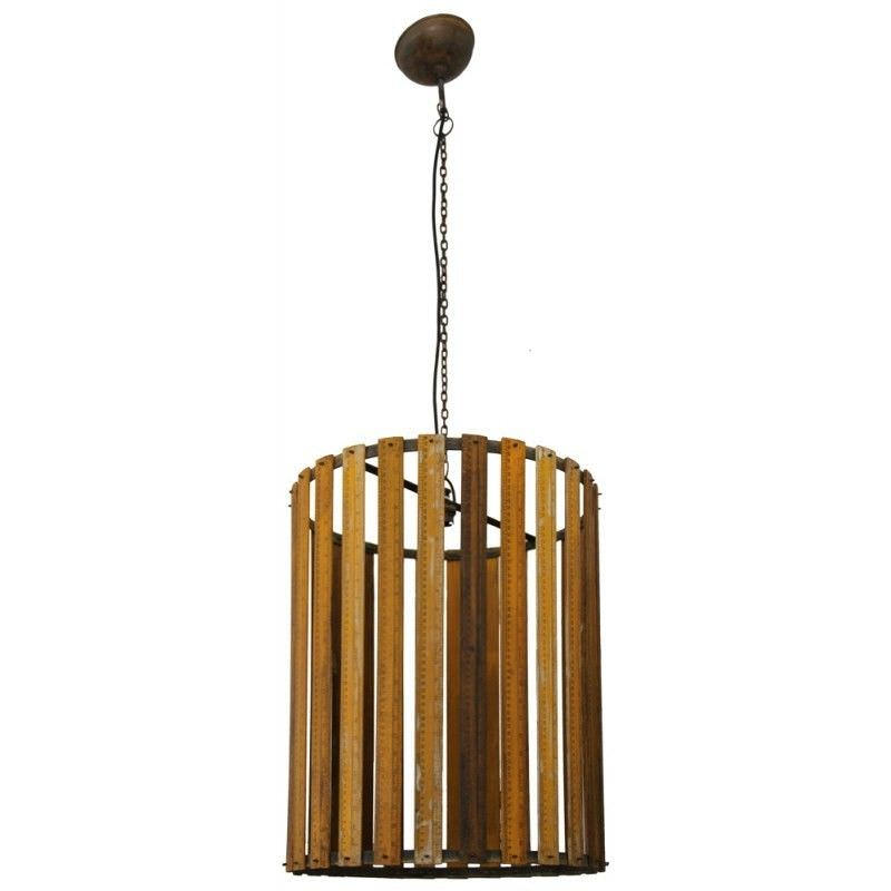 Ackerley Recycled Wooden Ruler Pendant Light - Large