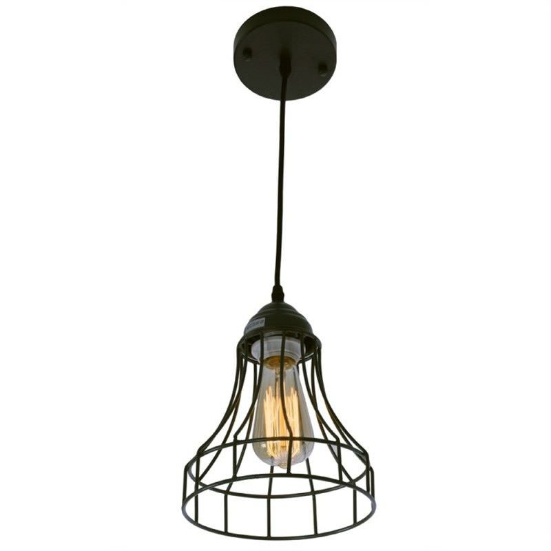 Nelson Wire Cage Pendant in Grey