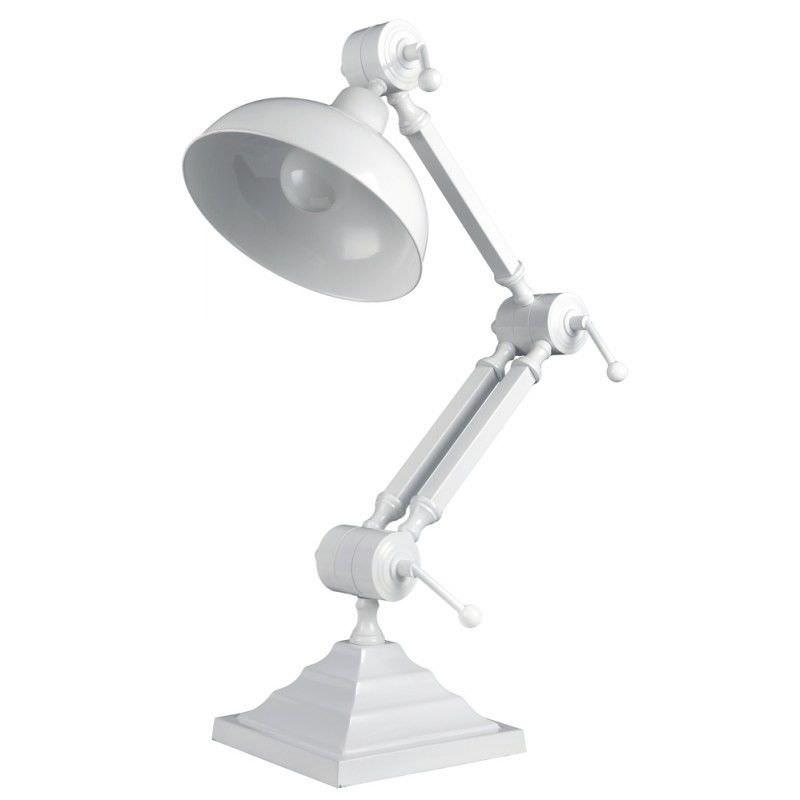 Oskar Industrial Adjustable Metal Desk Lamp - White