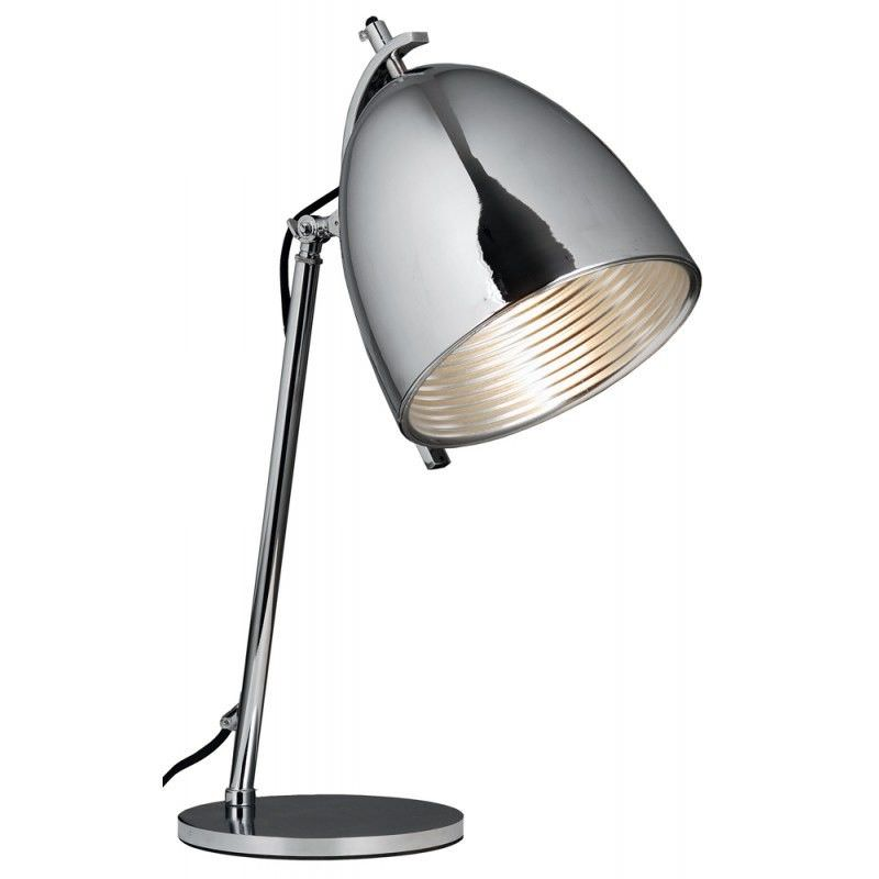 Finner Metal Bedside Table Lamp - Chrome