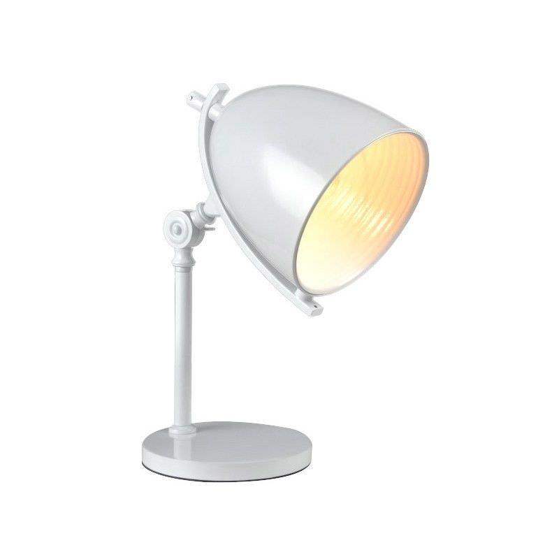 Finner Metal Desk Lamp - White