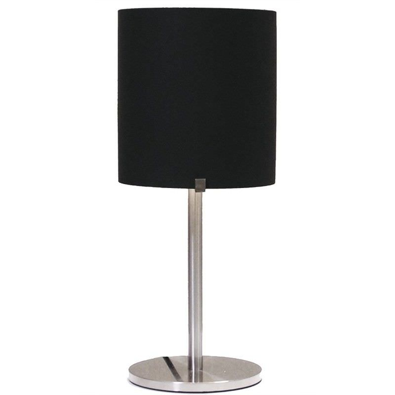 Hedon Glass Shade Table Lamp - Black