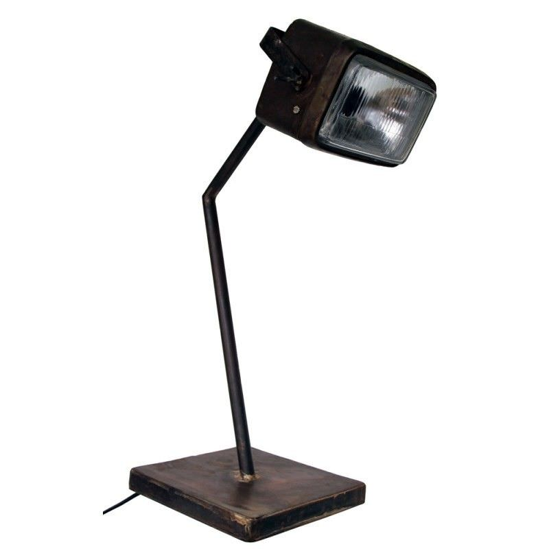 Old Car Metal Rectangle Headlight Table Lamp